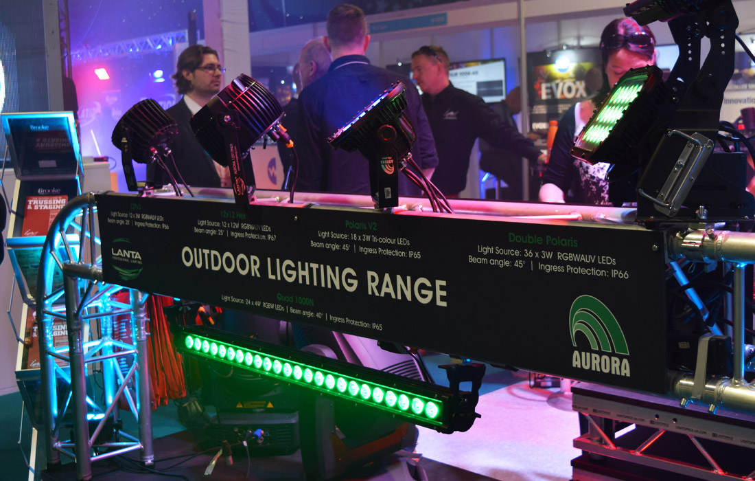 Outdoor Lighting Range on display.