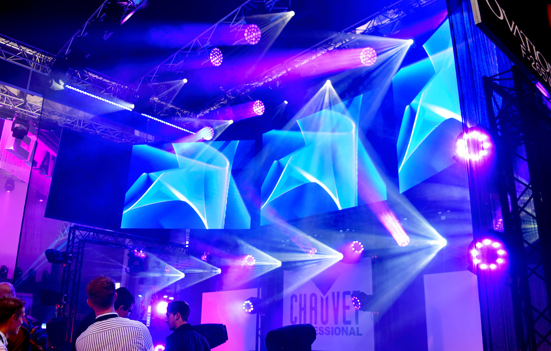 Chauvet displaying their fantastic lighting products