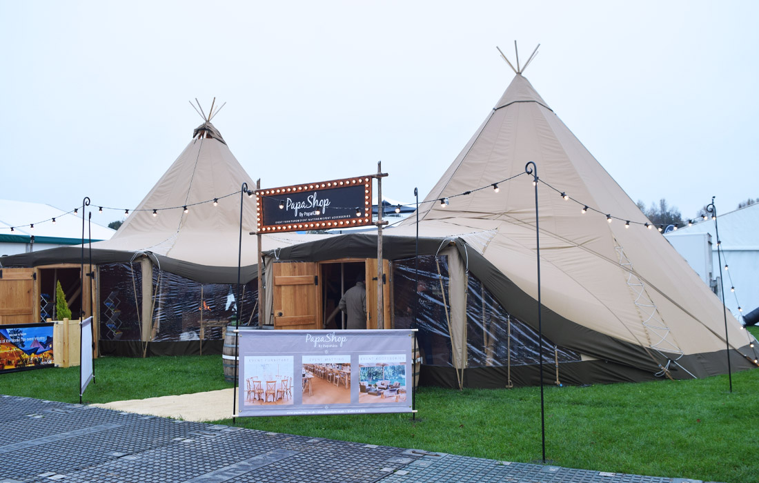 Beautiful Papakata tipis in the Showground