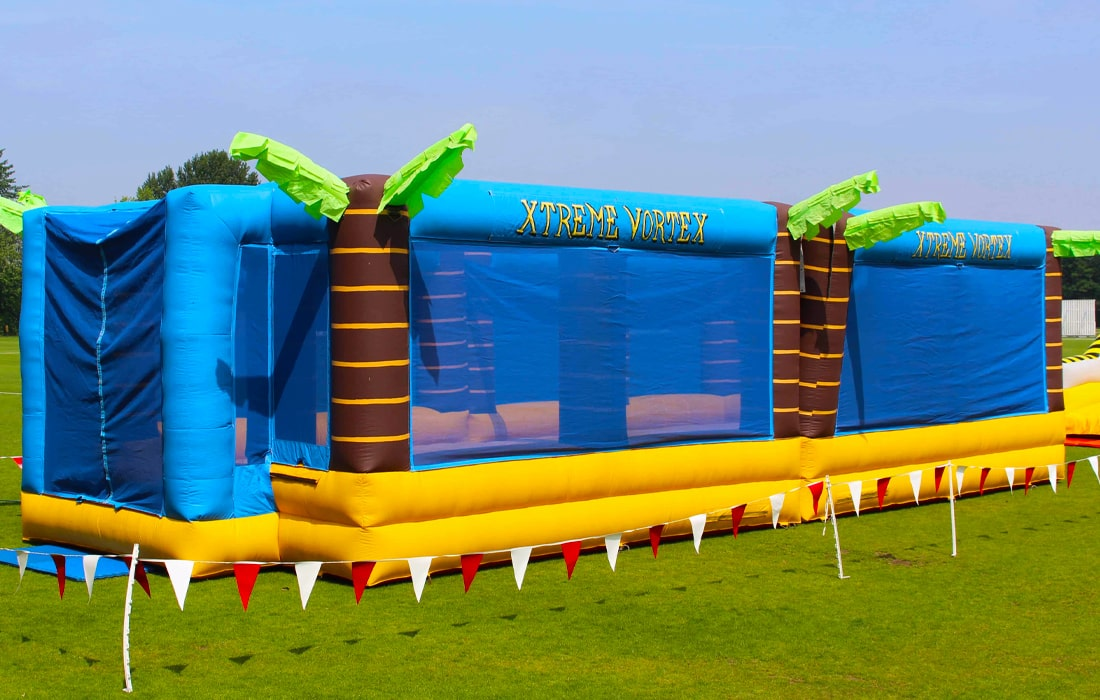 Bouncy Volleyball, Bungee Football and Bouncy Basketball; The Sports Arena is an activity hire that's full of energy.
