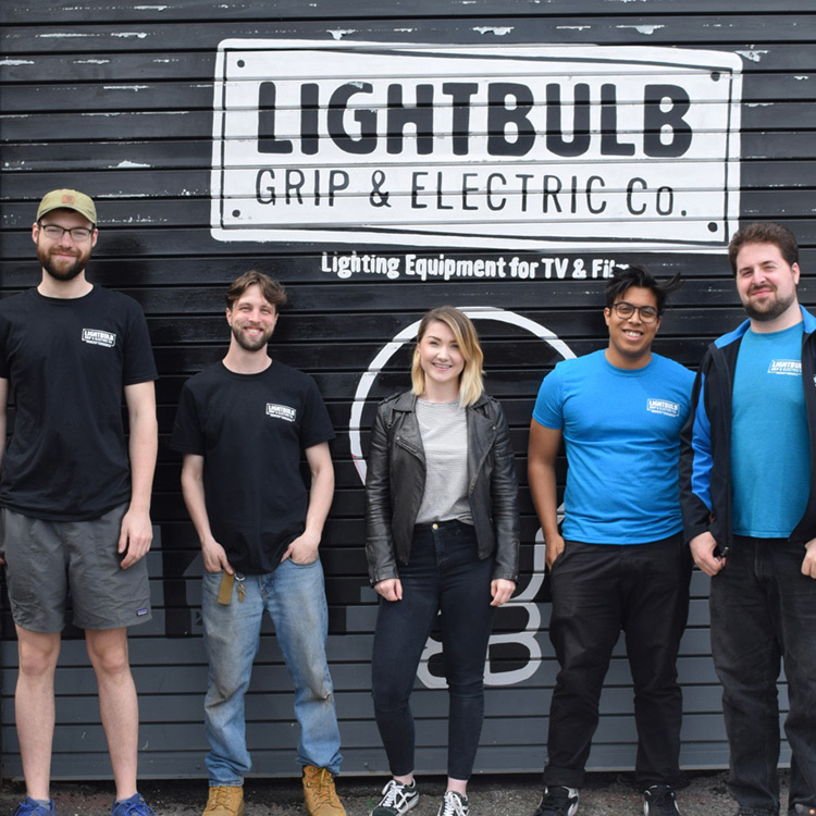 Current RMS visiting Lightbulb Grip & Electric in Brooklyn, New York