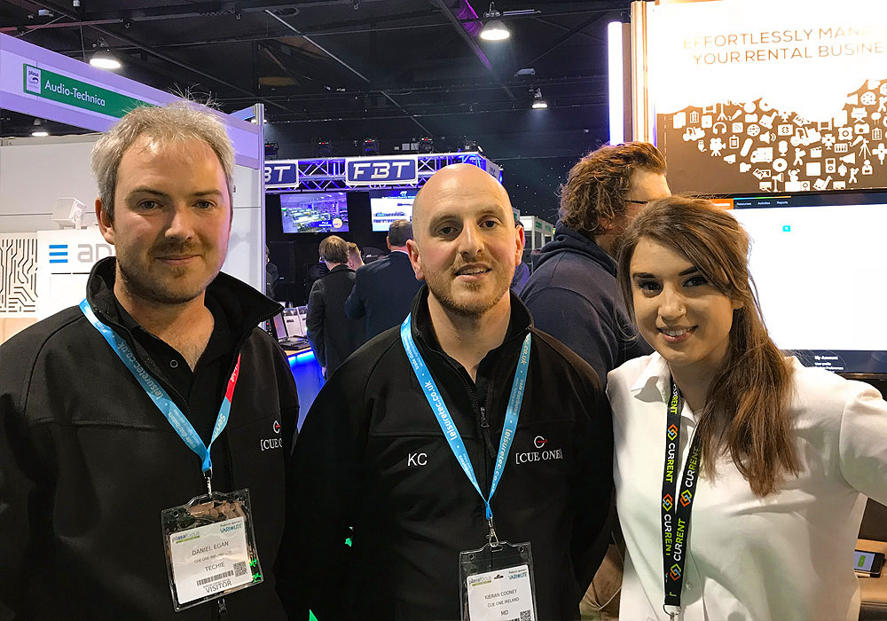 Current RMS team talking to customers at PLASA Focus Leeds 2018