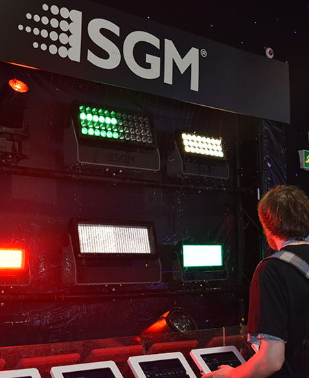 SGM showing off their impressive waterproof lights.