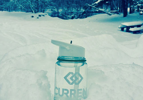 HCVF Television share a pic of their Current waterbottle braving the elements