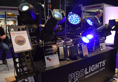 ProLights on display at PLASA Focus Glasgow