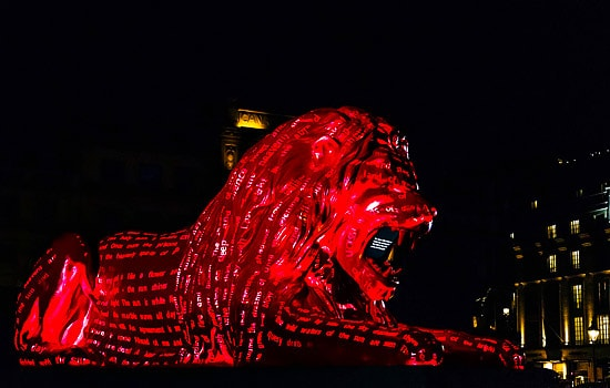 Lux Technical - lion lighting display