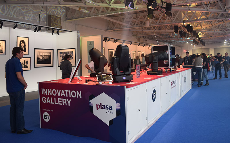 The Innovation Gallery at PLASA London 2018, showcasing award-nominated products