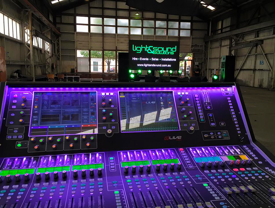 Light & Sound Solution setting up in a warehouse | Current RMS Customer Spotlight