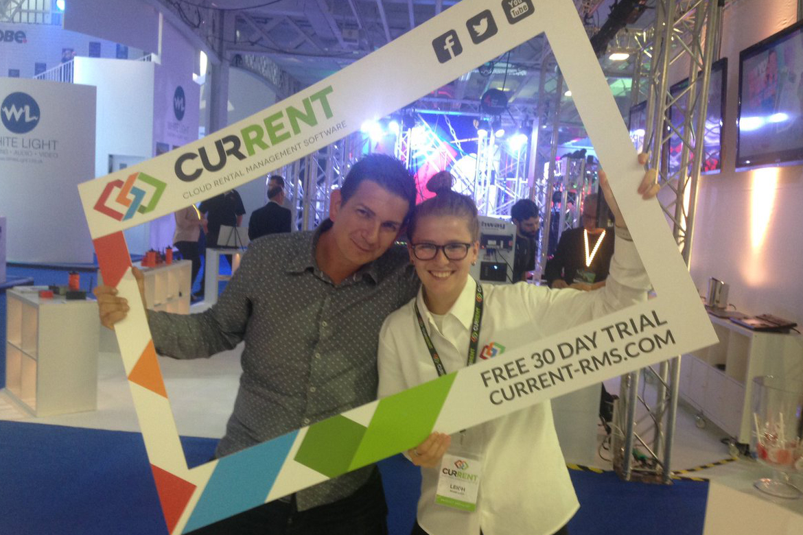 Rob Stanley from ZeroDB with Leigh, Prodct Specialist in the selfie frame