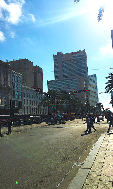Sunny Sunday in New Orleans, USA