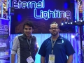 Philip and Mark from The Eternal Lighting stand.
