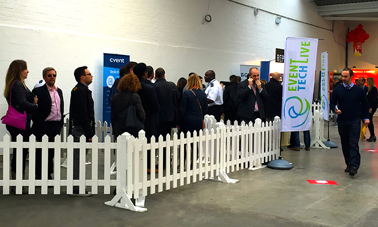 Visitors arriving at Event Tech Live 2014