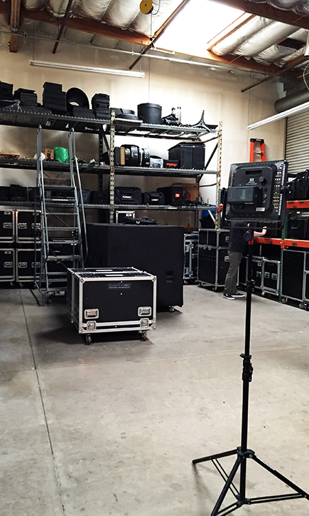 Event Wave Productions warehouse, full of fantastic AV and Sound Kit.