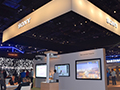 Sony's impressive booth filled with exciting technology.
