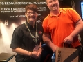 Jason from Distinct Events with Product Specialist Leigh