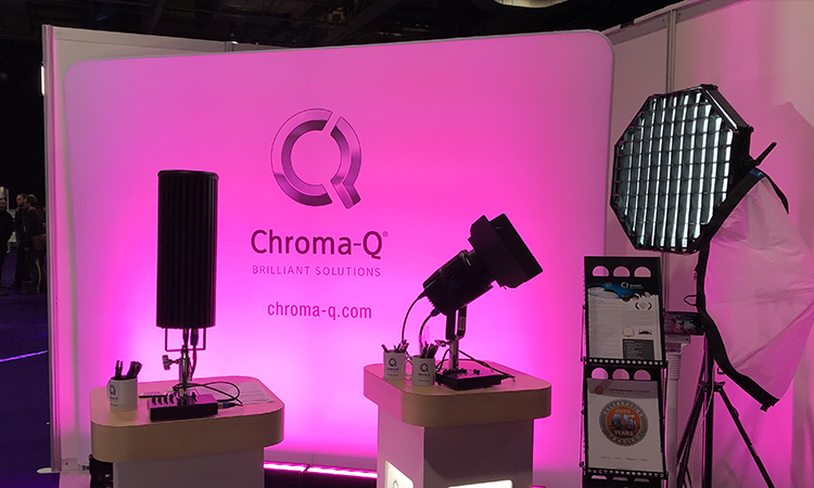 Latest Chroma-Q products on display.