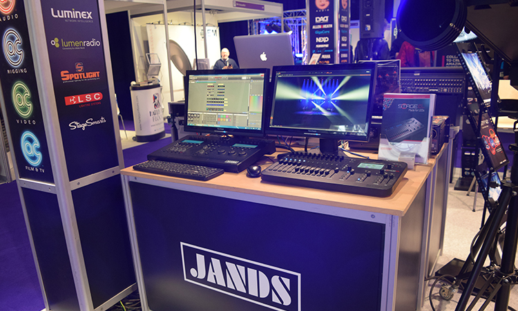 The latest AV products set up for the show.