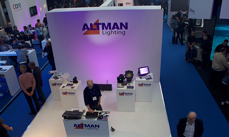 Altman Lighting exhibiting new technology.