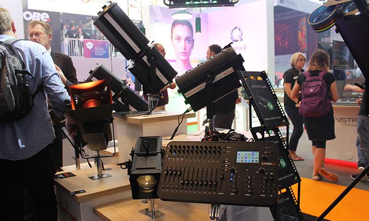Show visitors had the chance to get close up to the latest AV and Lighting products on display.