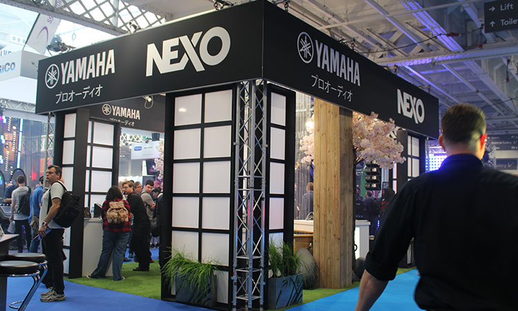 A stunning themed stand by Yamaha Pro Audio and Nexo.