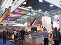 The show floor buzzing with activity.