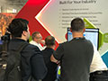 Busy showing stand visitors the benefits of managing their rentals from the cloud.