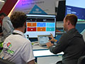 Our colourful demo pods were the perfect space to run through our software with stand visitors.
