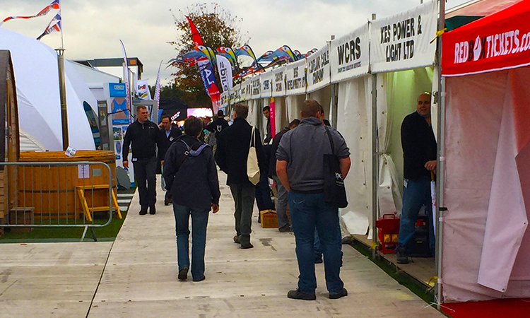 Rows full of exhibitors displaying innovative products for the events industry.