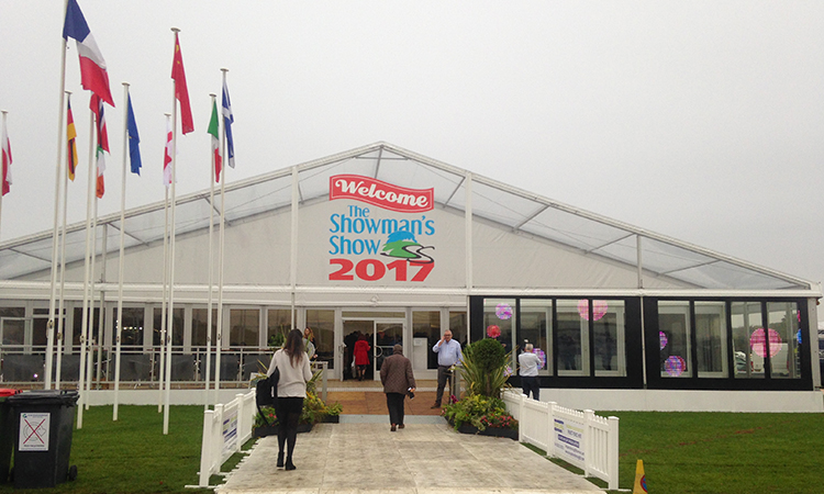 A bright and early start for the Current RMS team at the Showman's Show