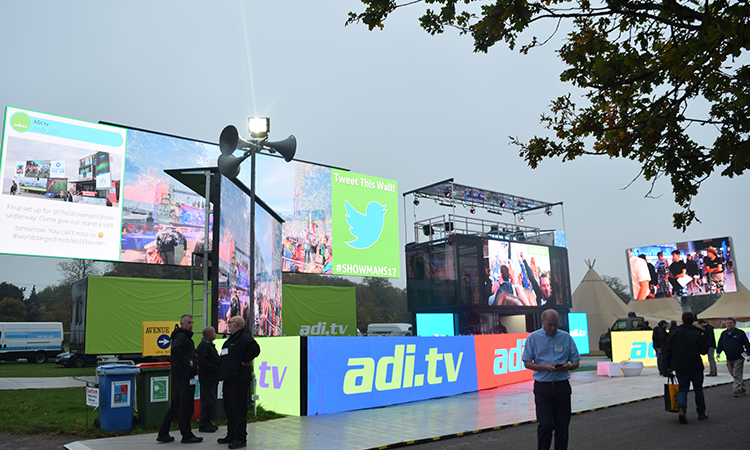 ADI exhibiting huge LED screens for the events industry
